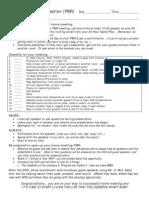 PBR Checklist
