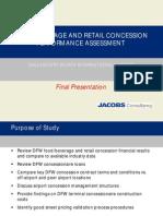 Food & Beverage & Retail Concession Assesssment