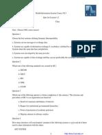 2013-Quiz1-Health Information System Course 2013