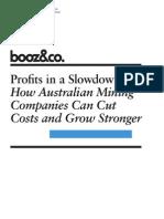 BoozCo Profits in a Slowdown