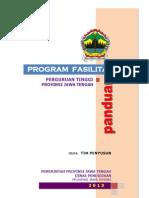 Panduan Fasilitasi Perguruan Tinggi 2013