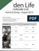 Wholesale List August2013 D