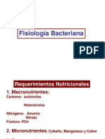 Clase 2- Fisiologia Bacteriano