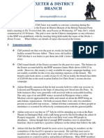 Exeter and District BNP Newsletter (June 2013)