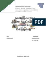 Analisis Critico La Calidad Educatva en El E-learning
