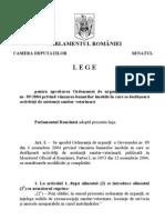 Lege pentru aprobarea Ordonanţei de urgenţă a Guvernului nr. 89/2004 privind vânzarea bunurilor imobile în care se desfăşoară activităţi de asistenţă sanitar-veterinară