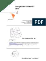 Software para aprender Geometría Computacional