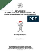 Soal OSN Matematika SMA Kab. 2013