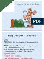 Lesson 6 Sleep Disorders