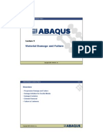 Material Damage and Failure in abaqus