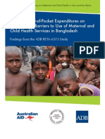 Impact of Out-of-Pocket Expenditures on Families and Barriers to Use of Maternal and Child Health Services in Bangladesh