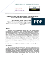 Risk Management in Banking a Study With Reference to State Bank of India _sbi_ A