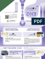 CAMON Las Cigarreras. Programación Septiembre 2013. Obra Social. Caja Mediterráneo