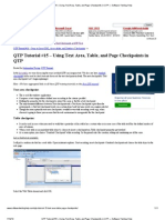 Text Area, Table, And Page Checkpoints in QTP