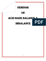 Acid Base Balance and Imbalance