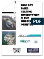 Tool Box Talk Series - Hearing Conservation in Shipbuilding - FINAL - 042409