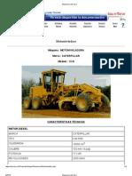 Especificaciones y Rendimientos - Motoniveladora Caterpillar Cat-140h