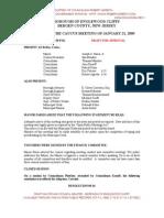 Caucus Minutes, 01-21-2009, Borough of Englewood Cliffs, NJ