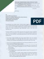 Surat Kepala Badan Tentang Pemberian NUPTK 2013