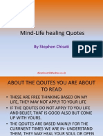 Mind-Life Healing Quotes