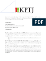 Kenyans for Peace With Truth and Justice (KPTJ) Open Letter to ICC President Sang-Hyun Song on Excusal Decision and Insitu Hearing