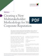 Creating a New-Multistakeholder Methodology for Measuring Reputation
