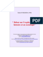 Durkheim - Debat Sur l'Explication - 1908