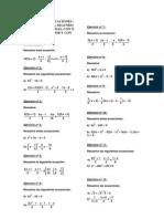 Ejercicios de Ecuaciones