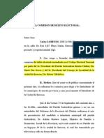 Denuncia Delito Electoral Das Neves