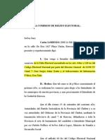 DENUNCIA DELITO ELECTORAL TAITO