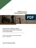 Determinants of Different Modes of FDI