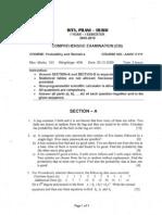 Probability & Statistics question paper