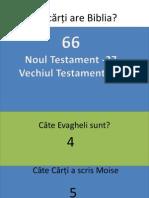 Câte cărți are Biblia ppt