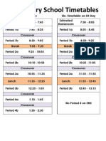 Elementary Timetables Inc ERD 1314