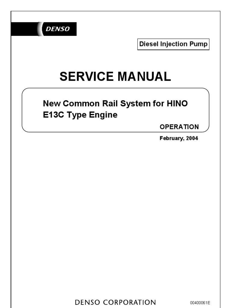 manual de toyota hino dutro sensor