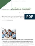 Comunicación organizacional. Tipos y formas