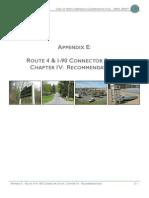 Appendix E Route 4_I90 Connector Study