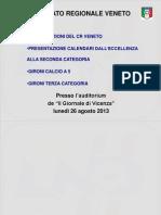Calendari di Calcio, dall'Eccellenza alla Terza Categoria