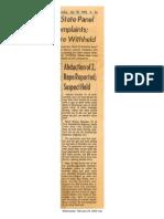 Arkansas Gazette reports abduction of Anthony Alardin in Little Rock on July 30, 1978.