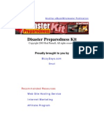 Disaster Preparedness Kit 2003
