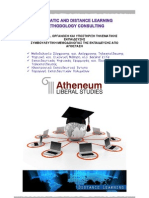 Telematic and Distance Learning Methodology Consulting