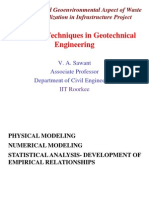 Modelling techniques in geotechnical engineeering