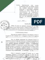 Rechazo de Recurso de Apelación de la Recusación de Janine Ríos.