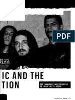 Heavy Metal and the Egyptian Revolution - Esquire, August 2013