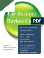 Resume Center 2013-2014