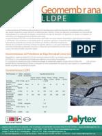 Geomembrana LLDPE
