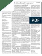 Lawsuit Summary - Kerchner v Obama & Congress - 20090615 Issue Wash Times Natl Wkly - pg 9