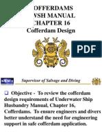 Cofferdams UWSH Manual CH16 - Cofferdam Design