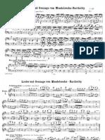 Mendelssohn Lieder 1 Piano 4 Hands
