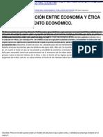 Luis Razeto Migliaro - LA DIFÍCIL RELACIÓN ENTRE ECONOMÍA Y ÉTICA EN EL PENSAMIENTO ECONÓMICO. - 2009-09-25.pdf